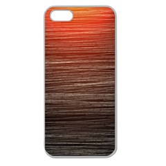 Background Red Orange Modern Apple Seamless Iphone 5 Case (clear)