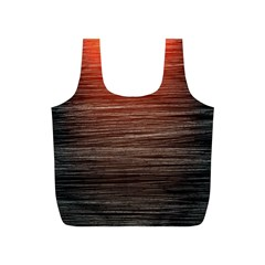 Background Red Orange Modern Full Print Recycle Bags (s)