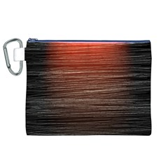 Background Red Orange Modern Canvas Cosmetic Bag (xl)