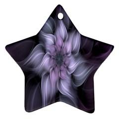 Fractal Flower Lavender Art Ornament (star)