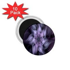 Fractal Flower Lavender Art 1 75  Magnets (10 Pack)
