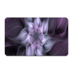 Fractal Flower Lavender Art Magnet (rectangular)