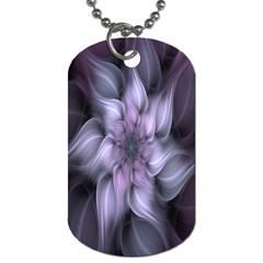 Fractal Flower Lavender Art Dog Tag (one Side)