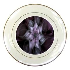Fractal Flower Lavender Art Porcelain Plates