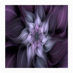 Fractal Flower Lavender Art Medium Glasses Cloth