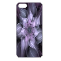 Fractal Flower Lavender Art Apple Seamless Iphone 5 Case (clear)