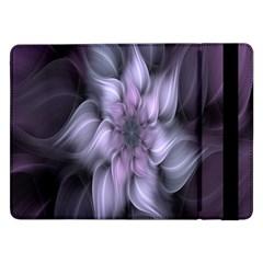 Fractal Flower Lavender Art Samsung Galaxy Tab Pro 12 2  Flip Case