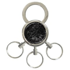 Black Texture Background Stone 3 Ring Key Chains