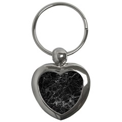 Black Texture Background Stone Key Chains (heart)