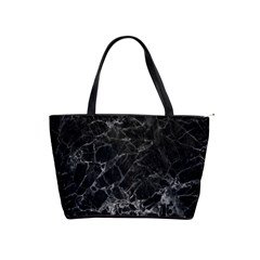 Black Texture Background Stone Shoulder Handbags