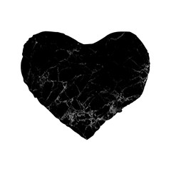 Black Texture Background Stone Standard 16  Premium Heart Shape Cushions