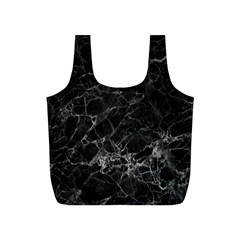 Black Texture Background Stone Full Print Recycle Bags (s)