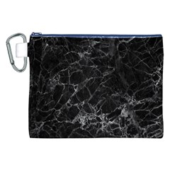 Black Texture Background Stone Canvas Cosmetic Bag (xxl)