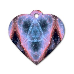 Sacred Geometry Mandelbrot Fractal Dog Tag Heart (one Side)