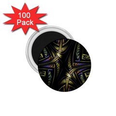 Fractal Braids Texture Pattern 1 75  Magnets (100 Pack)