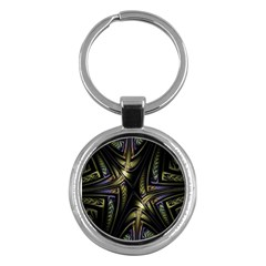 Fractal Braids Texture Pattern Key Chains (round)