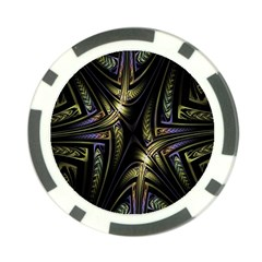 Fractal Braids Texture Pattern Poker Chip Card Guard