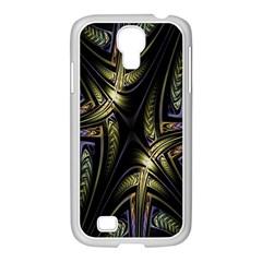 Fractal Braids Texture Pattern Samsung Galaxy S4 I9500/ I9505 Case (white)