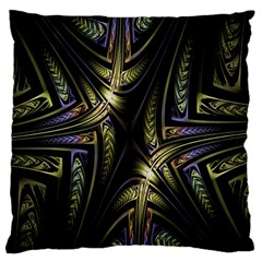 Fractal Braids Texture Pattern Large Flano Cushion Case (two Sides)