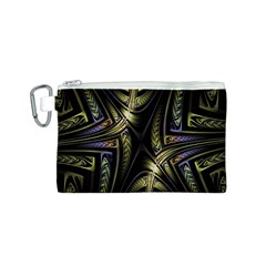 Fractal Braids Texture Pattern Canvas Cosmetic Bag (s)