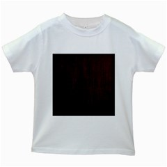 Grunge Brown Abstract Texture Kids White T Shirts