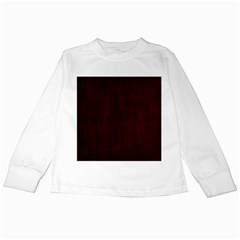 Grunge Brown Abstract Texture Kids Long Sleeve T Shirts