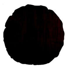 Grunge Brown Abstract Texture Large 18  Premium Round Cushions