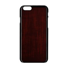 Grunge Brown Abstract Texture Apple Iphone 6/6s Black Enamel Case