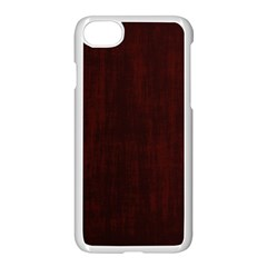 Grunge Brown Abstract Texture Apple Iphone 7 Seamless Case (white)