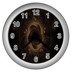 Beads Fractal Abstract Pattern Wall Clocks (silver)