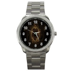 Beads Fractal Abstract Pattern Sport Metal Watch