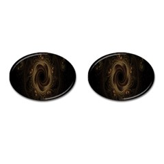 Beads Fractal Abstract Pattern Cufflinks (oval)