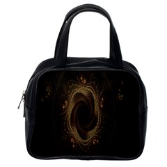 Beads Fractal Abstract Pattern Classic Handbags (one Side)