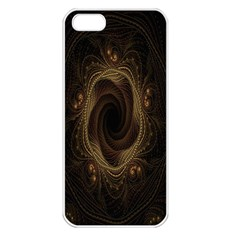 Beads Fractal Abstract Pattern Apple Iphone 5 Seamless Case (white)