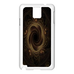 Beads Fractal Abstract Pattern Samsung Galaxy Note 3 N9005 Case (white)