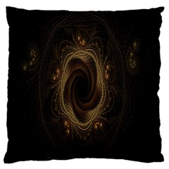Beads Fractal Abstract Pattern Large Flano Cushion Case (one Side)