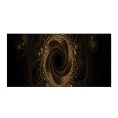 Beads Fractal Abstract Pattern Satin Wrap