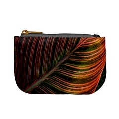 Leaf Colorful Nature Orange Season Mini Coin Purses