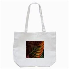Leaf Colorful Nature Orange Season Tote Bag (white)