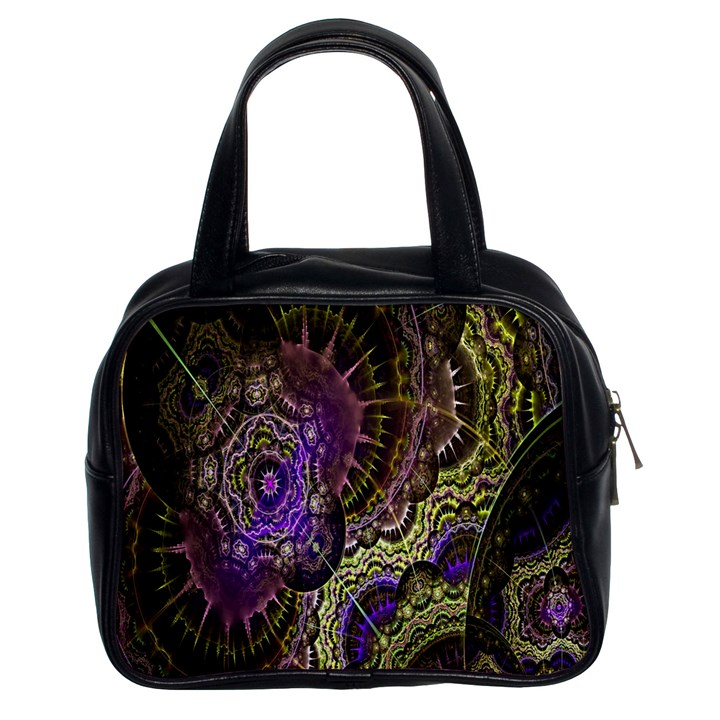Abstract Fractal Art Design Classic Handbags (2 Sides)