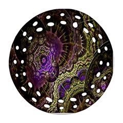 Abstract Fractal Art Design Ornament (round Filigree)