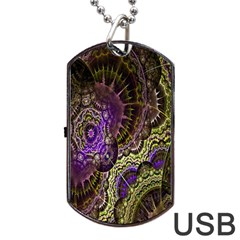 Abstract Fractal Art Design Dog Tag Usb Flash (one Side)