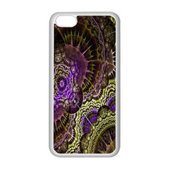 Abstract Fractal Art Design Apple Iphone 5c Seamless Case (white)