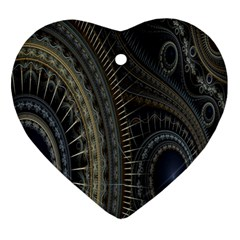 Fractal Spikes Gears Abstract Ornament (heart)
