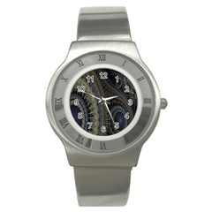 Fractal Spikes Gears Abstract Stainless Steel Watch