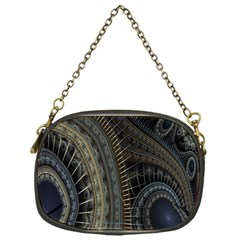 Fractal Spikes Gears Abstract Chain Purses (one Side)