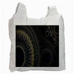 Fractal Spikes Gears Abstract Recycle Bag (one Side)