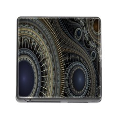 Fractal Spikes Gears Abstract Memory Card Reader (square)