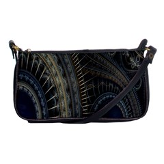 Fractal Spikes Gears Abstract Shoulder Clutch Bags