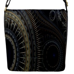Fractal Spikes Gears Abstract Flap Messenger Bag (s)